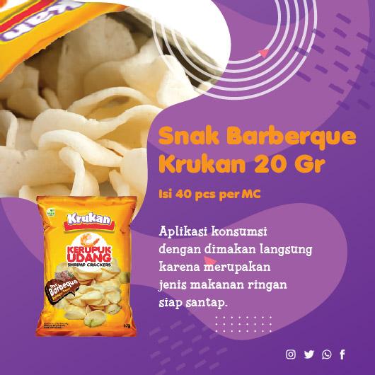 Snak Barberque Krukan 20 Gr Aplikasi konsumsi dengan dimakan langsung